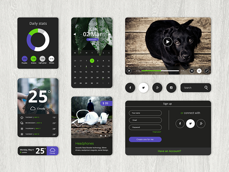 Natura Theme UI Starter Kit - created by Hila Yonatan
