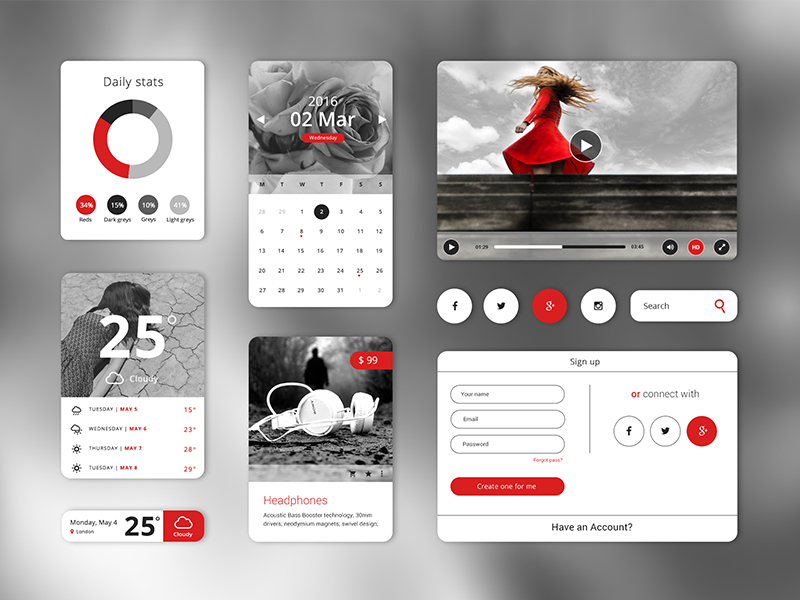 Wintera Theme UI Starter Kit - created by Hila Yonatan